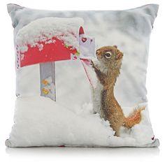 George Home Christmas Squirrel Cushion