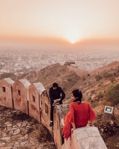 Nothing is better than a sunset on the side of someone you love. Tag the person you would like to see gorgeous sunsets with. Amer Fort, Before Sunset, India Travel, World Heritage Sites, Aerial View, Monument Valley, Travel Destinations, Travel Photography, Sunsets