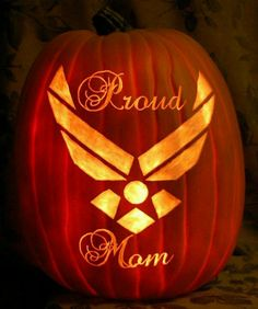 AIR FORCE PUMPKIN!! Can't wait to do this