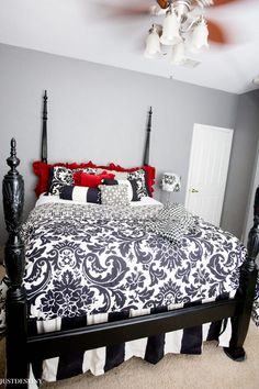 Best Paint to Use for Furniture Makeovers | Just Destiny Home Rice Bed, Easy Diy Room Decor, Home Decor, Carved Beds, Painted Furniture, Refinished Furniture, Cool Paintings, White Bedding, Furniture Makeover