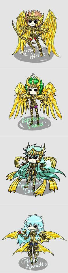 Soul Of Gold God Cloth Sagitarrius Aiolos - Capricorn Shura - Aquarius Camus - Pisces Aphrodite