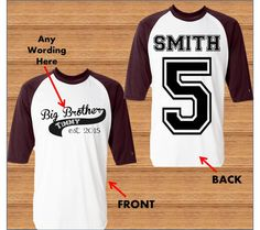 Big Brother Shirt  Promoted to Big Brother by BirthdaysGalore