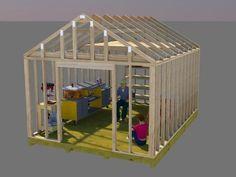 diy shed how to plan and build a shed base shed pinterest kleine h tten teiche und h tten. Black Bedroom Furniture Sets. Home Design Ideas