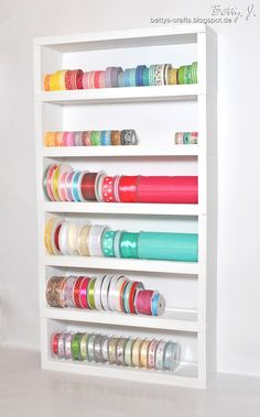 Diy Shelf For Ribbons And Washi Tape