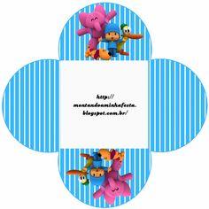 Fiesta de Pocoyó: Cajas para Imprimir Gratis. Bolo Laura, Ideas Para, Smurfs, First Birthdays, Printables, Template, Html, Emerson, Party Ideas