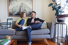 "Rachael and Mohammad found their apartment in 2015 after an extensive and tedious search. ""We knew exactly the kind of apartment we wanted, but given the housing crisis and crazy costs of San Francisco, it took a while to find a place that fit the bill and we could afford,"" they say."