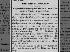 Arguments Begun in the Whittemore Case Yesterday-Asheville Citizen Times- May 6, 1893 (Saved)