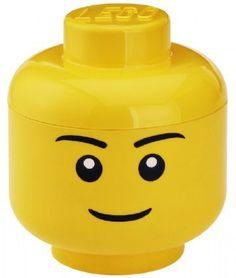 Lego Hoved med opbevaring (dreng) - far og mor elskede LEGO, så mon ikke også baby gør ;-)