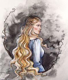 Once and future Queen. (C or D)  ;Princess of Nargothrond by liga-marta.deviantart.com on @deviantART