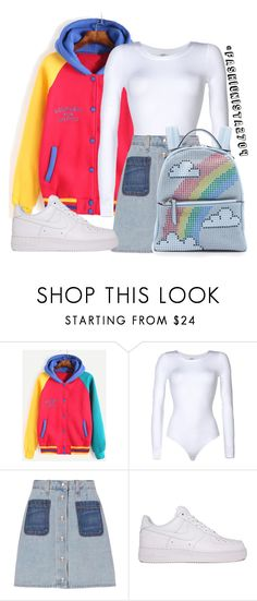"""""""SMALL TALK~ jarreau vandal"""" by fashionista2704 ❤ liked on Polyvore featuring Wolford, rag & bone, NIKE and Les Petits Joueurs"""