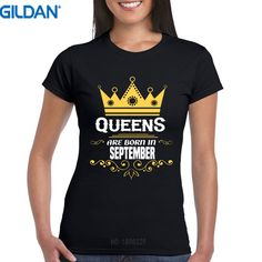 >> Click to Buy << T Shirt Summer Tops Tees Gildan Crew Neck New Style Short Sleeve Queens Are Born In September Womens Tee Shirt #Affiliate