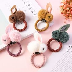 Cute Easter Rabbit Design Hair Bands party DIY Three-Dimensional Plush Rabbit Ears Headband For kids Easter Party Supplies - Hase Cute Lamb, Pom Pom Crafts, Bar Stud Earrings, Rabbit Ears, Cute Plush, Ear Headbands, Easter Party, Diy Party, Party Gifts