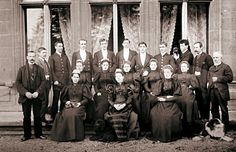 Some of the Staff of Highclere Castle, photographed in late Victorian times