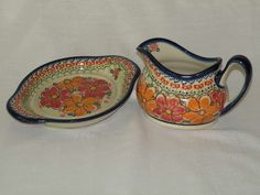 I love this orange, it's cheery like a happy sunrise :) The Peacock's Eye Polish Pottery