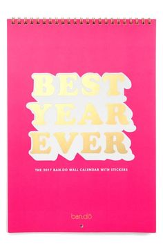 ban.do 'Best Year Ever' 2017 Wall Calendar available at #Nordstrom