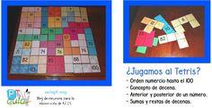 Juego del Tetris con la tabla de 100 - Aula PT
