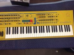 MATRIXSYNTH: Yellow Waldorf Q Keyboard Synthesizer
