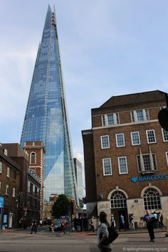 The Shard - At about 300 meters high it's the tallest building in the EU - London London Blog, The Shard, World's Biggest, Vacation Ideas, San Francisco Skyline, Wander, Destinations, Around The Worlds, England