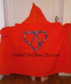 Superhero Hooded Towel by ThankfulForThorns on Etsy