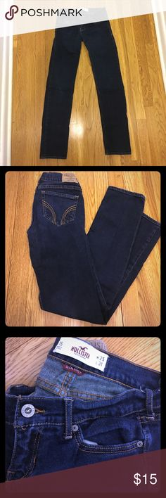 Hollister SO Cal stretch jeans Hollister so cal stretch jeans in size 1 short (w 25, L 31) Hollister Jeans Straight Leg