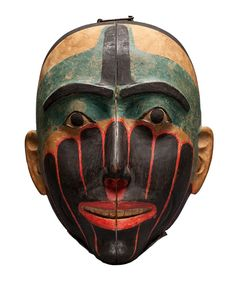 Haida Hermaphrodite Mask The Haida people are an indigenous people of British Columbia, Canada and British North America