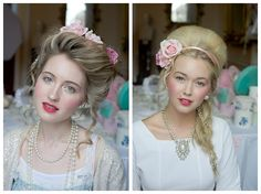 Love the Marie Antoinette hair & make up!