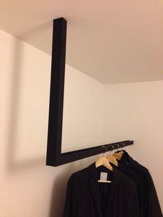 Coole Garderobe Maße 120x70 cm Farbe Schwarz U Stahl 50x40 mm Befestigung von innen mit Schrauben zur Wand/Decke Sondergrößen möglich