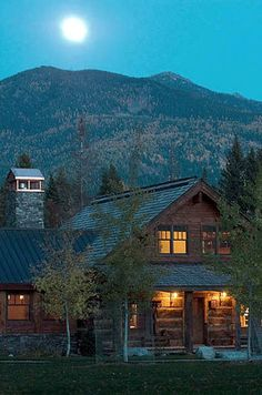 Beautiful setting in Montana for this square log home.