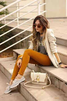 FashionCoolture - 21.03.2016 look du jour Keds Zara denim pants off white bag autumn outfit (3)