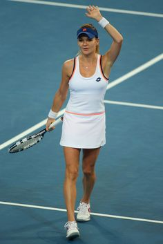Agnieszka Radwanska at the 2014 Hopman Cup