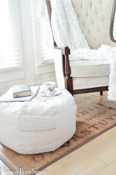 pouf pouffe how to make a pouf instructions and pattern available! diy make your own pouf to go with your decor!
