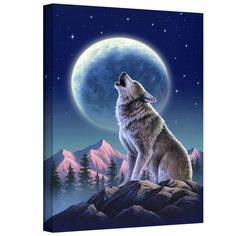 'Wolf Moon' by Jerry Lofaro Gallery Wrapped on Canvas