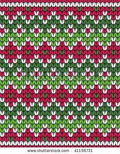 Vector ornament for knitting - stock vector