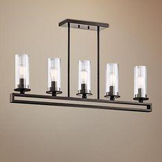 "Kichler Kayde 40"" Wide Olde Bronze Linear Chandelier - #6M025 | LampsPlus.com"