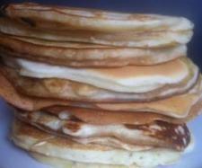 Recipe Fluffy and thick pancakes by raven - Recipe of category Desserts & sweets thermomix ( add a little less salt and perfect) Thermomix Bread, Thermomix Desserts, Thermomix Pancakes, Sweets Recipes, Baking Recipes, Snack Recipes, Healthy Recipes, Snacks, Recipes