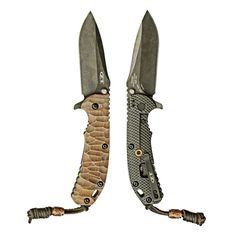 EDC Knife:Zero Tolerance 560 BW with custom stone pattern copper scale, bead and LBSSubmitted By: Adolph C.Purchase on Amazon