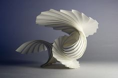 More from Richard Sweeney - Curved pleat (shell) - really a gorgeous paper scupture