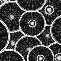 Vector of 'vector Bicycle background from many white wheels'  (bike pattern for pinwheels, flower origami, other paper decor)