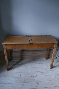 This Charming Vintage School Desk Would Make A Lovely Addition To Child S Bedroom It Is Double Complete With Ink And Pencil Holders Could