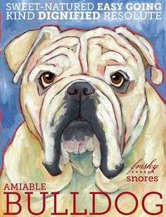 Bulldog No 2  Set of 6 Blank Cards with Envelopes by ursuladodge, $18.95