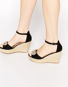 Image 1 ofMiss KG Lucie Espadrille Jewel Wedge Sandals