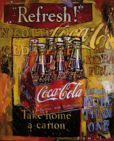 Steve Penley's Coke Art – Bold, Impassioned & Vivid « Coca-Cola Art Gallery #cocacola