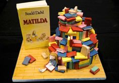 """A cake decorated in the style of the Roald Dahl children's book """"Matilda"""" is displayed at the Cake and Bake show in London, Britain October 3, 2015. REUTERS/Neil Hall"""