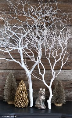 Decorating with my white painted manzanita branch I found the original manzanita branch at a floral wholesale house a few years ago. I painted mine white and used it as a wall decor in my living room. Christmas Tree Decorations, Christmas Diy, Christmas Wreaths, Christmas Ornaments, White Christmas, Christmas Design, Christmas Movies, Christmas Wedding, Christmas Cards