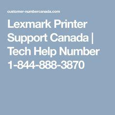Lexmark Printer Support Canada | Tech Help Number 1-844-888-3870