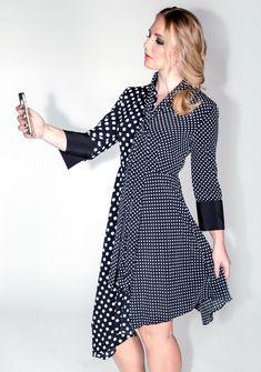 383a173a Who Loves Lucy Dress – A Line Called K #womensfashion #fashion #polkadots  #asymmetrical #ilovelucy #trending #fallfashion