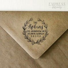 The perfect gift for new homeowners, newlyweds, or to treat yourself! Personalized just for you, this wood-mounted rubber stamp is a must when