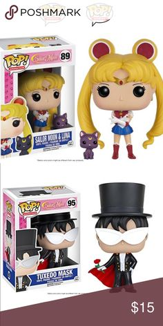 Funko Pop Sailor moon & tuxedo mask bundle Both never opened. Brand new! Sold as a set! Other