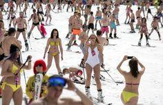 Itsy Bitsy Teenie Weenie Sotschi-style Ski-Bikini (9.4.16) Bloß nicht...