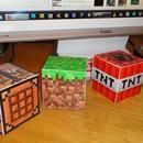 minecraft papercrafts.  These were a HUGE hit at our party.  Especially Steve and other major characters.  Make sure to craft the actual character your bday girl/boy uses in the game as a cake topper/decoration,or make one for each MC playing guest as place setters.  The uses are endless
